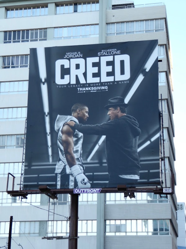 Creed movie billboard