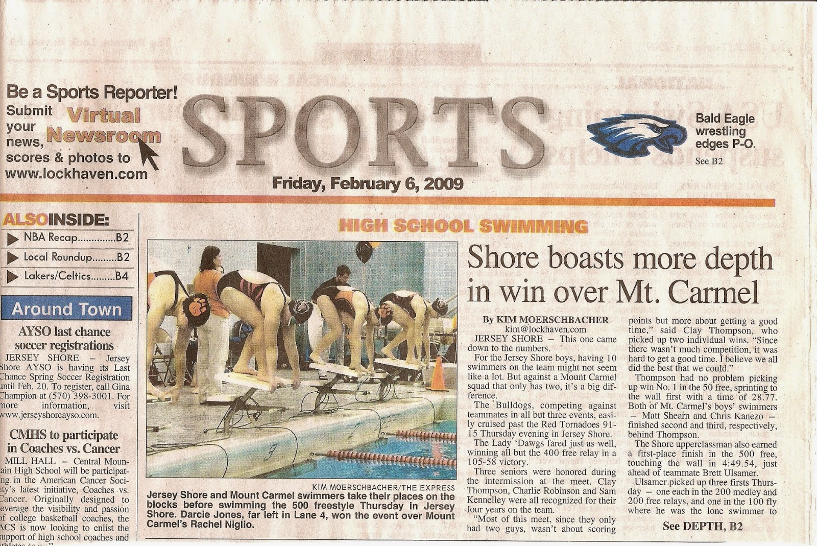 Jersey Shore Pa Swim Flashback Friday Jersey Shore V Mt Carmel 2009 News, obituaries, letters to the editor, and community news. jersey shore pa swim blogger