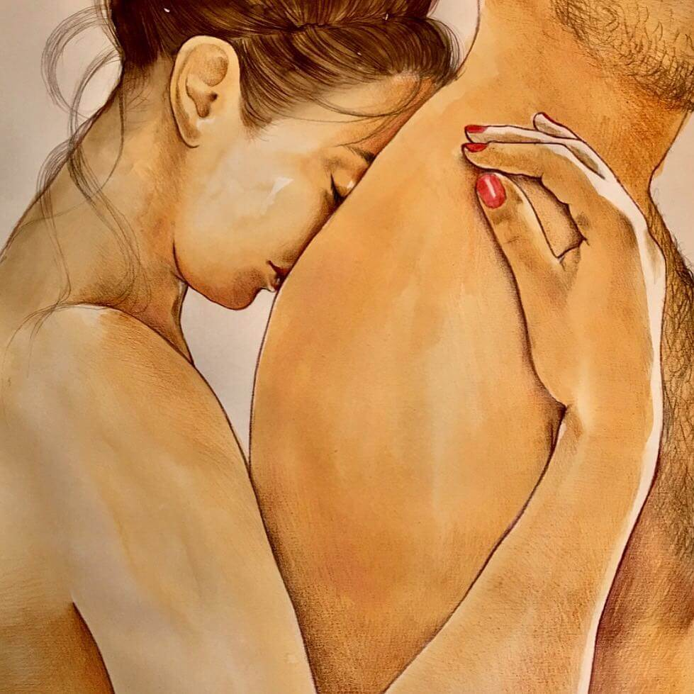 Beautiful Sensual Illustrations Reveal The Ecstasy Of Couple's Intimacy