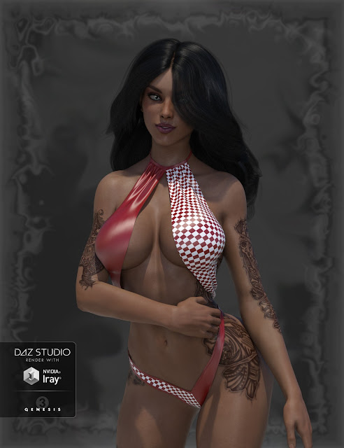 Hollywood Styles Monokini for Genesis 3 Female