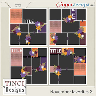 Creative Team, Annemarie, for GingerScraps – Buffet Goodies for November (Save 50%) -Autumn Glory - Bundle by CathyK Designs WITH COORDINATING FREEBIE and November Favorites 2, Tinci Designs AND Inspiration Challenge