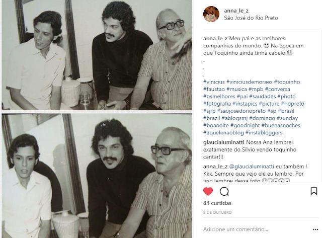 Meu pai com Toquinho e Vinicius de Moraes