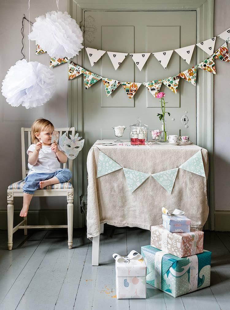 Una pizca de hogar 5 ideas para decorar fiestas con papel - Decorar papel pintado ...