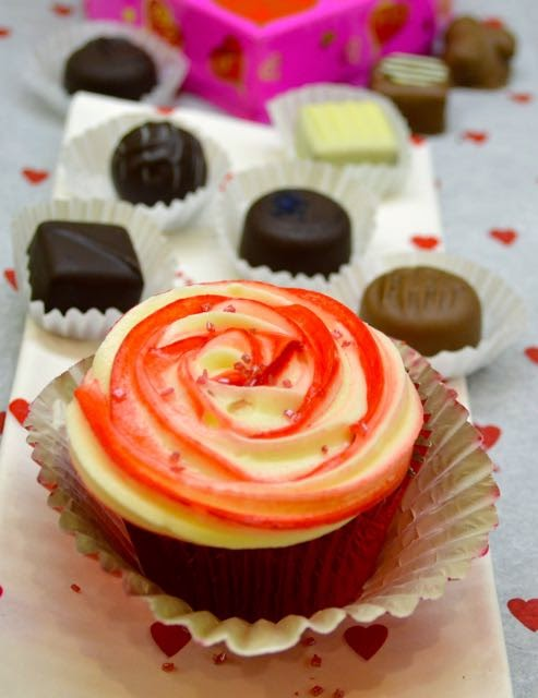 Valentine's Day Rose Cupcake
