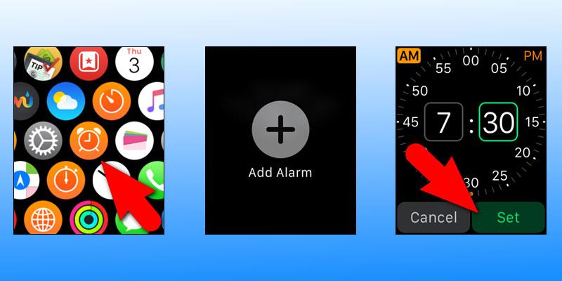 create alarm on apple watch