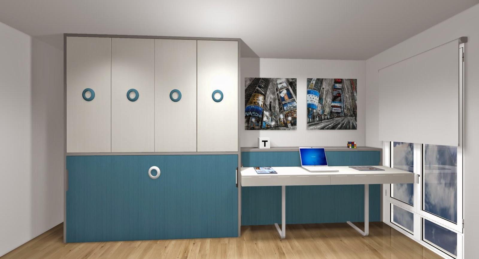 Dormitorios juveniles habitaciones infantiles y mueble - Dormitorio dos camas ...