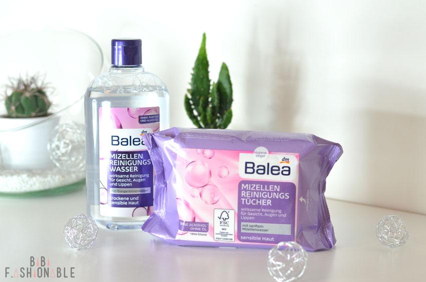 Balea Mizellen Reinigungswasser und Reinigungstücher