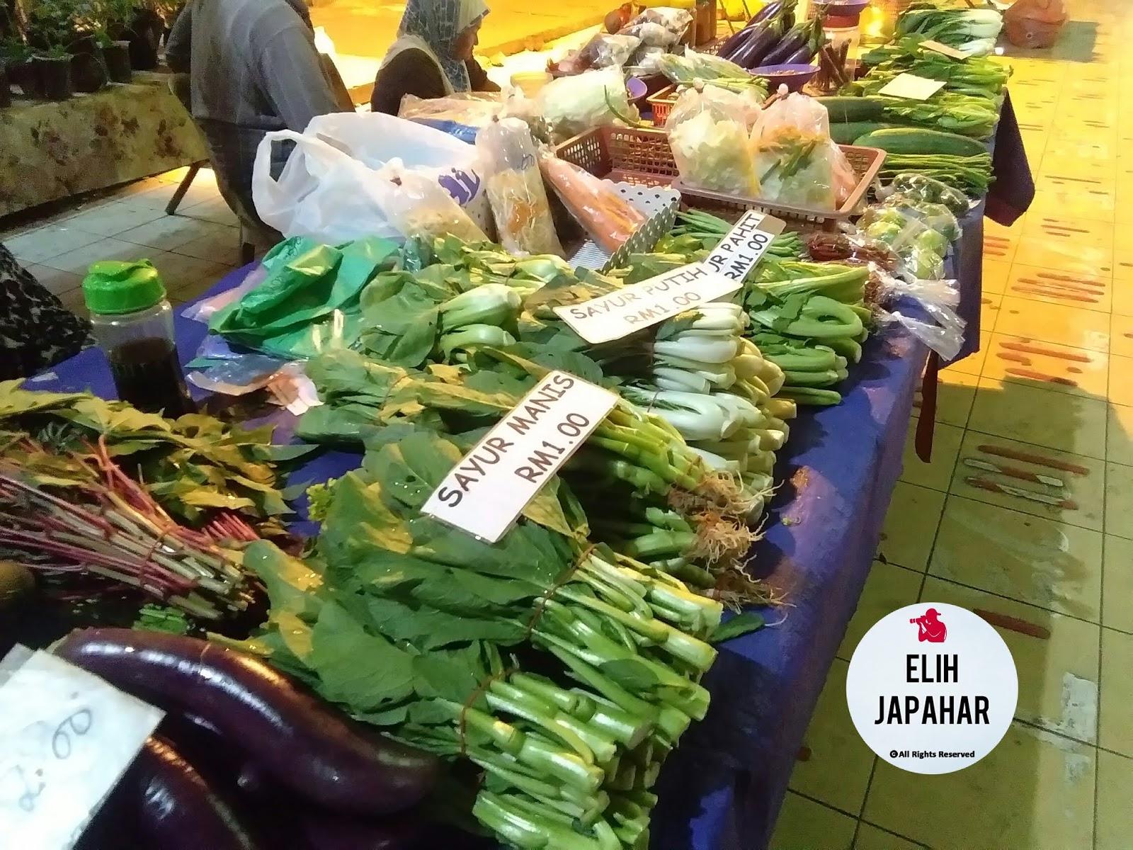 Pasar Malam Keningau Viral, Harga Sayur RM1 Sahaja