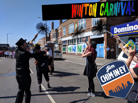 Winton Carnival - Jim Chim-in-ey Chimney Sweep Bournemouth 04a