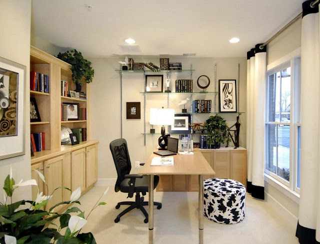 best custom home office desk facing door design ideas