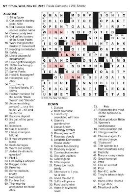 The New York Times Crossword in Gothic: 11.09.11 — INN