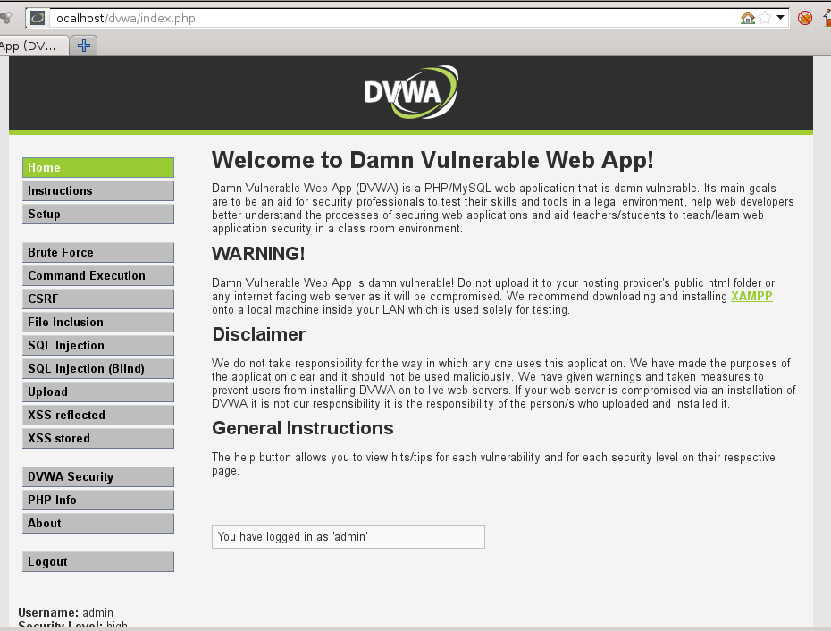 Newbie moron infosec is2c change's log: DVWA : SQL INJECTION AND