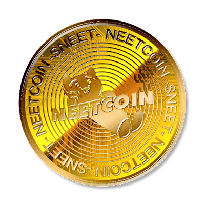 暗号通貨ニートコインのフリー素材(金貨ver)