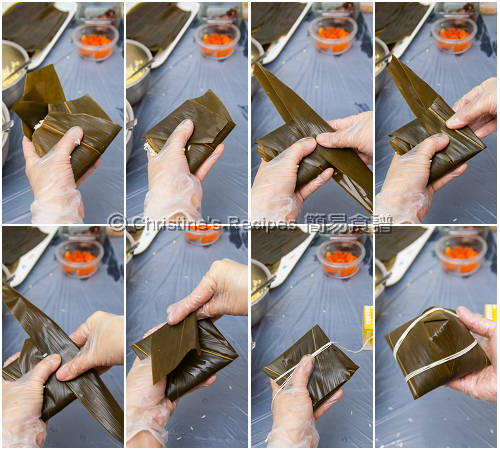 How To Wrap a Pyramid shaped Sticky Rice Dumpling02