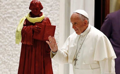 Pope and Choco-Luther