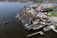 An aerial photo shows damage caused by Hurricane Harvey in Rockport, Texas, U.S., August 31, 2017. Photo taken August 31, 2017. (Credit: Reuters/DroneBase) Click to Enlarge.
