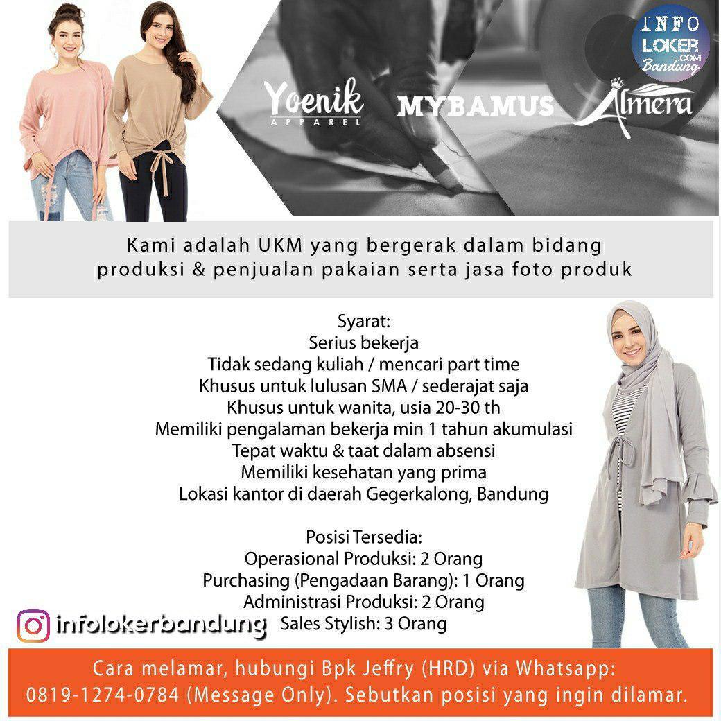 Lowongan Kerja UKM Yang Bergerak Dalam Bidang Produksi & Penjualan serta Jasa Foto Produk Bandung Agustus 2018