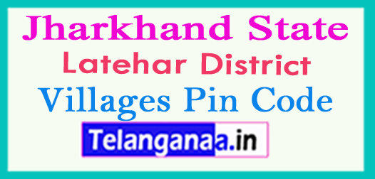 Latehar District Pin Codes in Jharkhand State