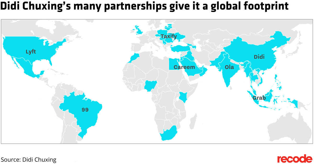 Didi Chuxing partnerships world map