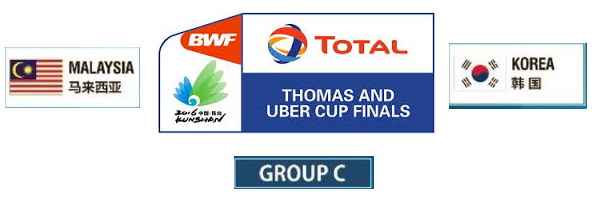siaran langsung Malaysia Vs Korea Piala Thomas 17-5-2016