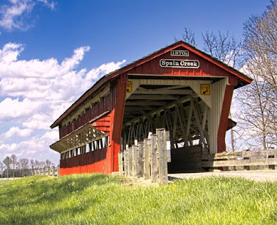 Spain Creek Covered Bridge in Union County, Ohio