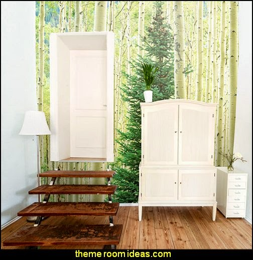 Tree Murals-wall murals trees-forest wall murals forest theme bedrooms - woodland forest theme bedroom fairies decor - fairy room decor - woodland nursery decor - woodland animal decorations - fairy woodland bedrooms - deer wall mural - snow white themed bedroom decorating ideas
