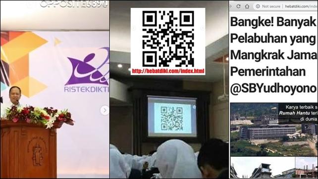 Mahasiswa Diminta Scan QR Code, Kuliah Umum Menristekdikti Diduga Kampanye Terselubung