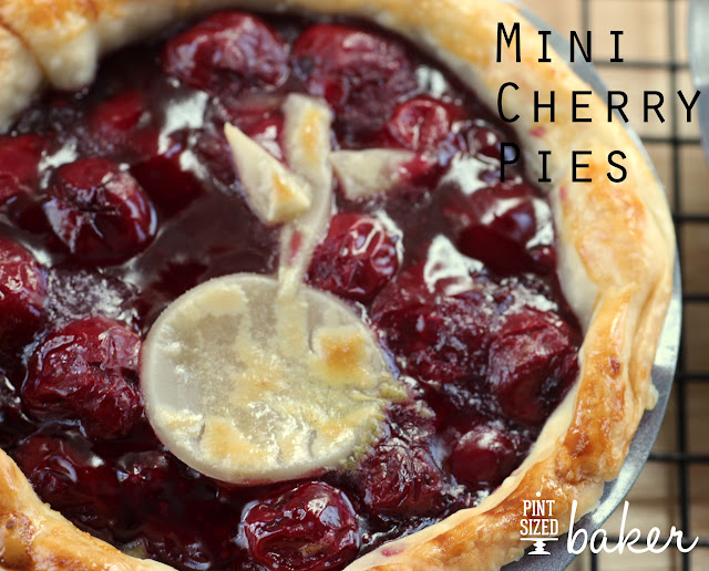 Mini Cherry Pies. The perfect summer dessert for Two. from www.pintsizedbaker.com