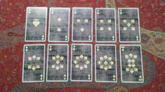 tarot cards swords spades