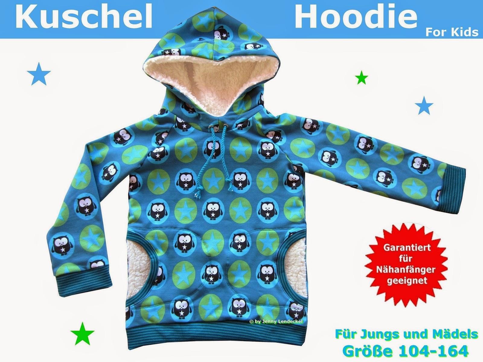 Hoodie/Kapuzenpulli für Kinder nähen,Schnittmuster