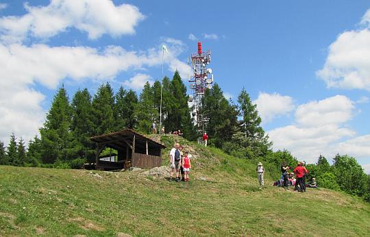 Pod szczytem Straníka (769 m n.p.m.).