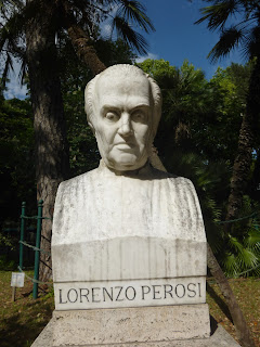The bust of Lorenzo Perosi in the  gardens at the Pincio in Rome
