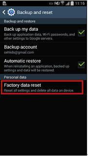 Cara Melakukan Factory Reset di Smartphone Android Samsung 9