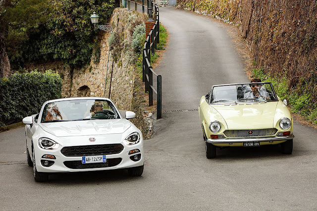 New Fiat 124 Spider and classic Fiat 124 Spider
