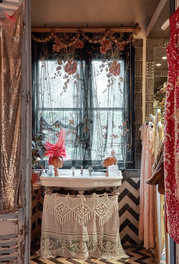 Eclectic Boho Bathroom