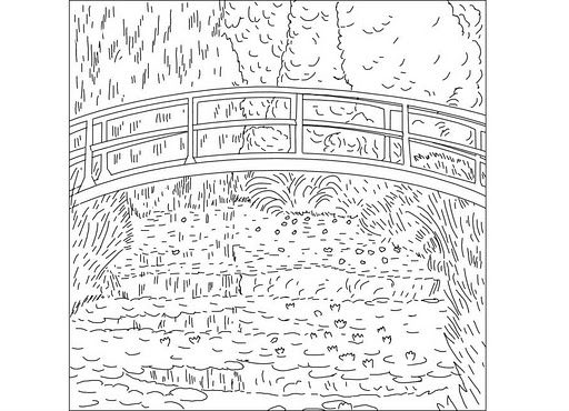 claude monet coloring pages art - Monet Coloring Pages Water Lilies