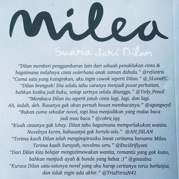 Semapul belakang novel Milea