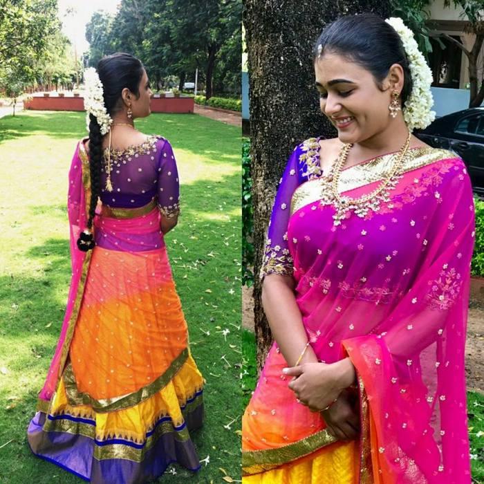 Shalini Pandey in Golden Threads - Saree Blouse Patterns