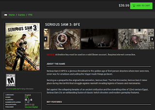 Serious Sam 3 in the Razor Game Store