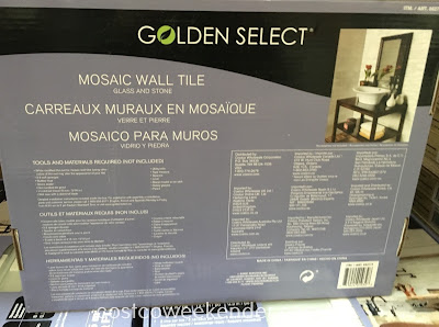 Costco 862775 - Golden Select Glass and Stone Mosaic Wall Tile - Your kitchen deserves the best