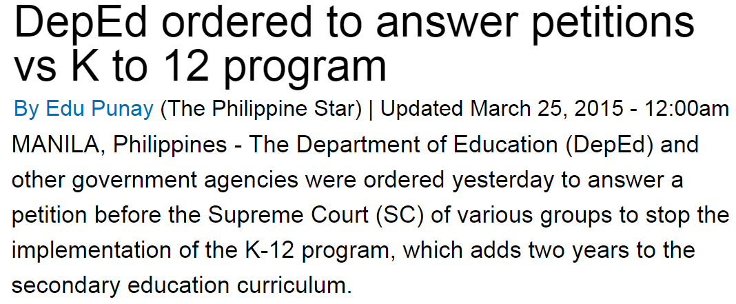 Current Issues and Answers in Education