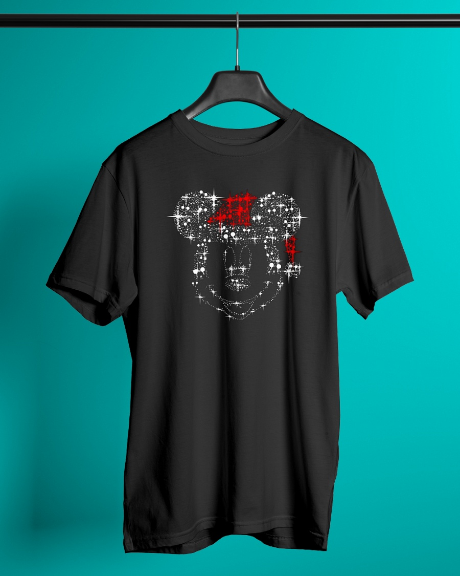mickey mouse rhinestone christmas shirt