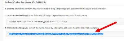 script kode embed