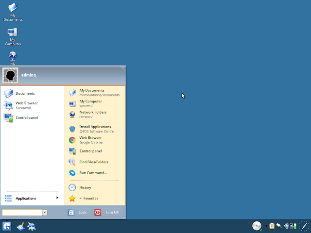 Revamped windows XP like application menu