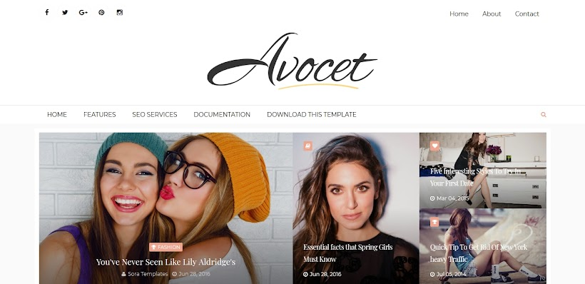 Avocet Free Blogger Template