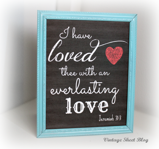 free valentines day love chalkboard printable