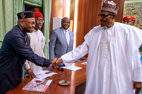 President Buhari Met 4 PDP Governors In Aso Rock (Photos)