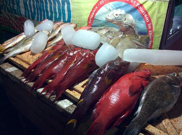 Peces en el fish market de Bajo