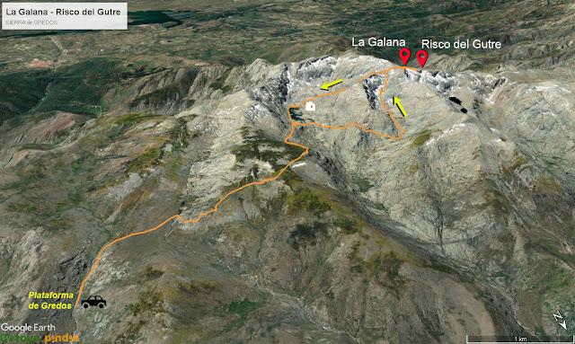 Ruta a la Galana y el Risco del Gutre desde la Plataforma en la Sierra de Gredos