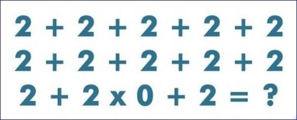 Easy Mathematical Puzzle Question